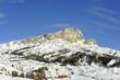 Mountain Settsass 2561 m in Val Badia. Dolomites, Italy