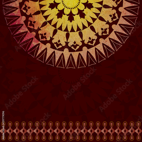 Oriental pattern and background version