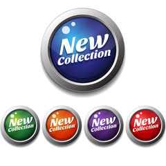 New Collection Vector Button Icon