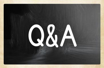 Q&A concept