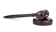 Brown wooden gavel