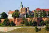 Wawel Castle on the Vistula river in Cracow (Krakow), Poland
