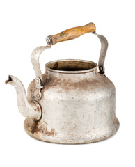 Old aluminum kettle