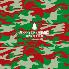 Military camouflage and Merry christmas background, Cover , Layo