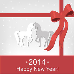 Happy New Year card.Vector illustration.