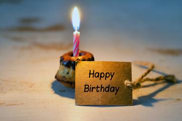 Geburtstagskuchen, marmorkuchen, kerze, birthday