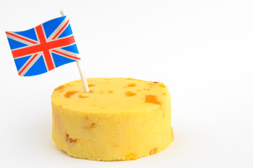 British cheese on a white background