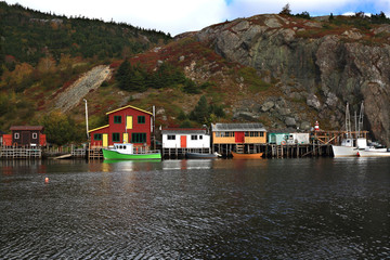 Fishing: Docks, Cabins, Boats on Quidi Vidi Lake