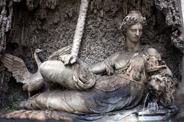 Rome, Quattro Fontane, Goddess Juno