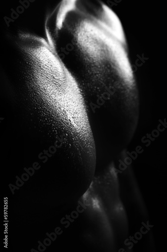 male torso closeup