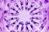 Kaleidoscopic Magenta Texture, radial glass pattern macro