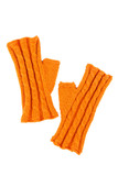 Orange wool mitts on white