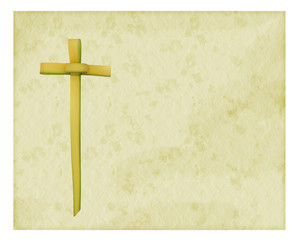 Easter Palm Sunday background - torn edge paper effect