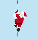 Santa on the rope