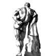 Male Body Back Engraving