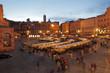 Leinwanddruck Bild - Traditional   Mercato Grande in Siena