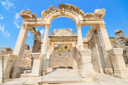 Hadrian Temple. In the ancient city of Ephesus, Turkey.