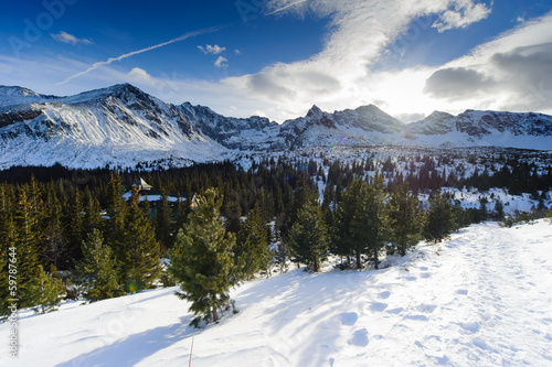 Polish Tatra mountains in winter