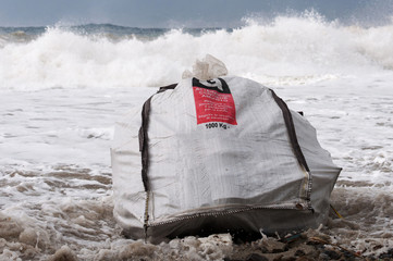 asbestos brought from the sea.