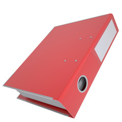 Red office folder