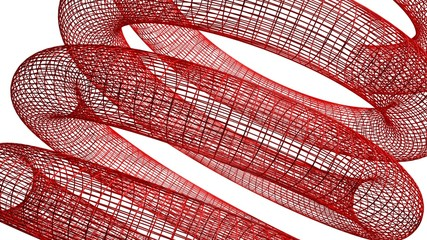 Red wireframed spring