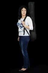 Someone calles woman guitarist