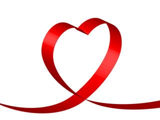 RUBAN COEUR (je t'aime amour saint valentin carte fête amoureux)
