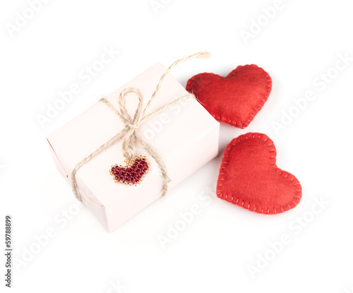 Red heart and gift box