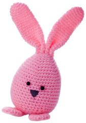 pink handmadewool easter bunny stuffed animal