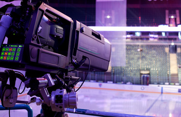 professional camcorder to broadcast hockey