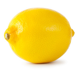 Ripe yellow lemon
