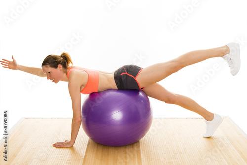 Fotobehang Fitness Gymnastik