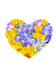 Background With Flower and Heart.