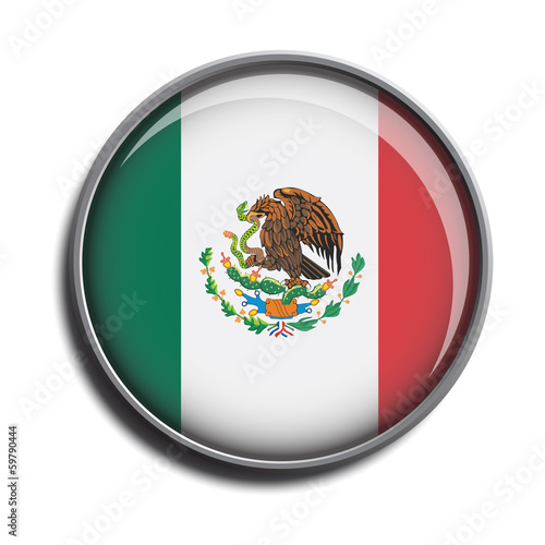 flag icon web button mexico