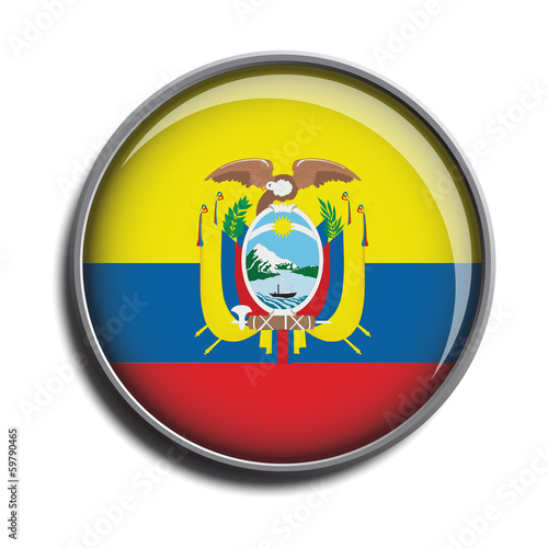 flag icon web button ecuador