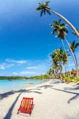 sun beach chair at the beach