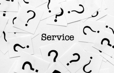 Service and question mark
