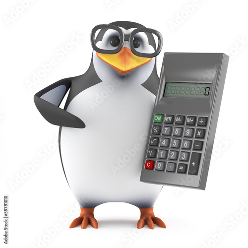 Academic penguin is good at math