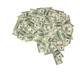 The brain shaped money heap