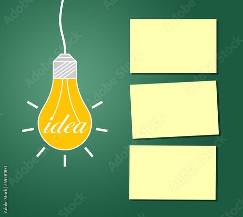 Die Idee mit Merkzetteln