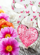 Frühling - Dekoration und  Herz