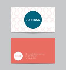 Editable business card template