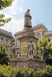 Milan, Leonardo Da Vinci monument in Piazza della Scala