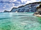 blue ionian sea corfu island greece