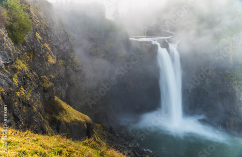 Tuinposter Watervallen Snoqualmie Falls Washington State