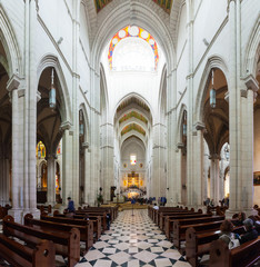 Inside view of Almudena Cathedral