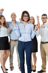 erfolgreiches junges team arbeitnehmer fachleute gruppe