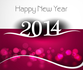 Celebration holiday colorful wave for new year 2014 background i