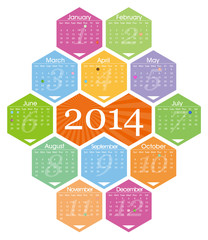 Vector 2014 calendar