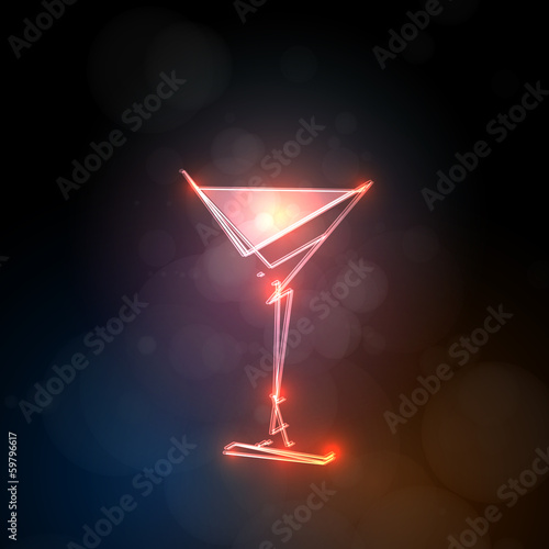 abstract drink template